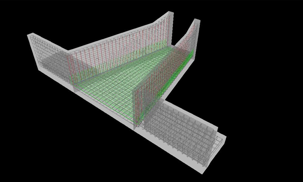⑤ 3次元モデル化(鉄筋イメージ)