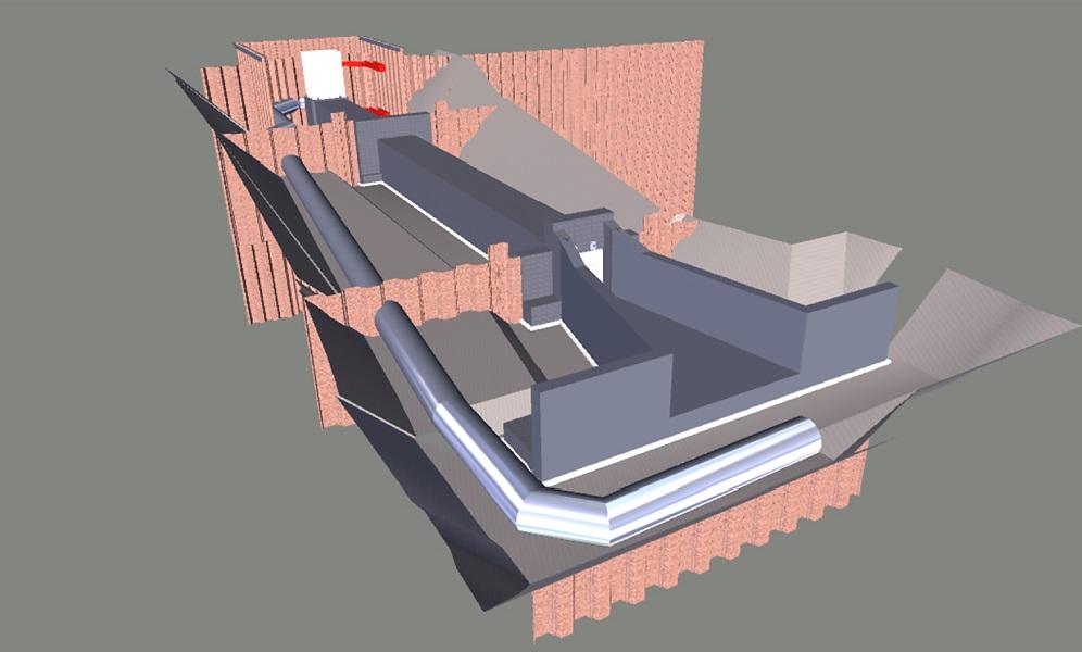 ⑧ 樋管構造物の完成イメージ(3次元モデル)