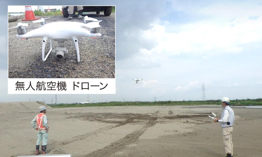 ② ドローン測量(写真撮影)
