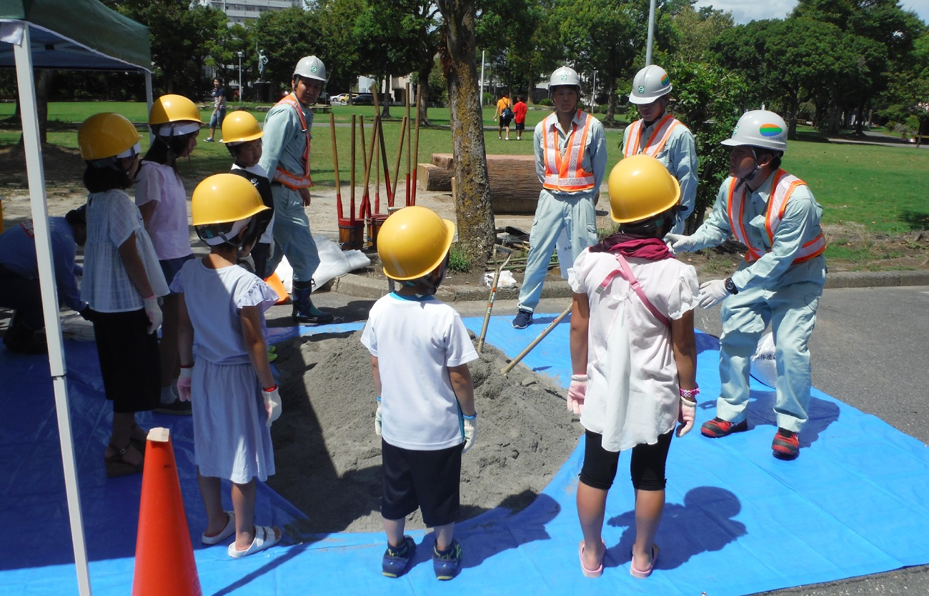 土のう積み体験
